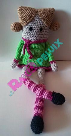 Amigurumi muñeca cuadrada