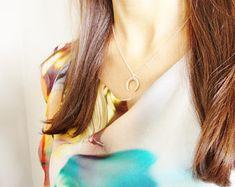Collier corne - lune rose gold Eclats de fantaisie