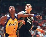 Lisa Leslie and Rebecca Lobo#classic