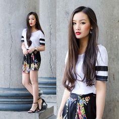 Get this look: http://lb.nu/look/5188078  More looks by Levi Nguyen: http://lb.nu/tlnique  Items in this look:  Zara Skirt, Cornwall Str Earrings   #oriental #sporty