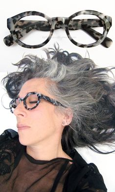 *Dominant* Eyeglasses. Grey tortoise shell hornrims in a very sturdy hipster round frame that are bold, arrogant, strong and sensually sexy. This color salt & pepper tortoise (cream/grayish white/soft black with a hint of soft yellow) is coming into play more and more. A new neutral look in eyewear. Feel them as I do <3