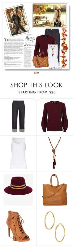 """""""Cashmere Sweater"""" by talvadh ❤ liked on Polyvore featuring Ann Taylor, Michael Kors, Burberry, Balmain, American Vintage, GUESS, Maison Michel, Prada, ZiGiny and Freida Rothman"""