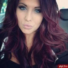 Chocolate Cherry Hair Colo....love it but i'm too scared about how drastic it'd be so i'd probably do a demi dye