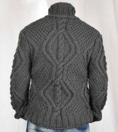 Hand Knitted 100% WOOL Pullover Men Sweater Turtleneck SOFT | Etsy Gros Pull Long, Jumper, Men Sweater, Wool Yarn, Turtleneck, Hand Knitting, Pullover, Sleeves, Model