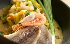 Kalaa ja kasviksia kookosmaidossa Shrimp, Meat, Food, Essen, Meals, Yemek, Eten