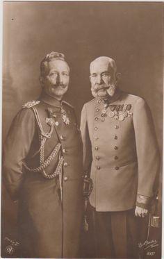 Wilhelm II. und Franz Josef