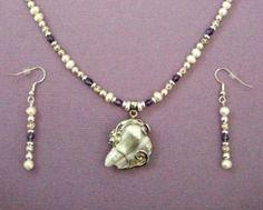 Baroque Pearl Pendant Beaded Crystal Wedding by JewelrybyIshi, $75.00