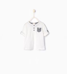 ZARA - KIDS - T-shirt with roll-up sleeves