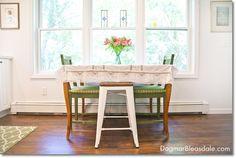 white farmhouse kitchen, Blue Cottage. DagmarBleasdale.com. #kitchen #white #farmhouse #cottage