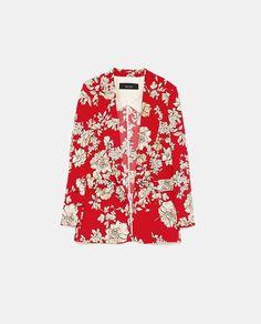 Image 6 of FLORAL PRINTED BLAZER from Zara Floral Tops, Floral Prints, Blazer Floral, Blazers, Printed Blazer, Minimalist Lifestyle, Favorite Color, Men Casual, Shirt Dress