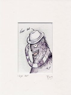 Monster Illustration Druck in Passepartout  18 x 24 von TessaRath, €10.00