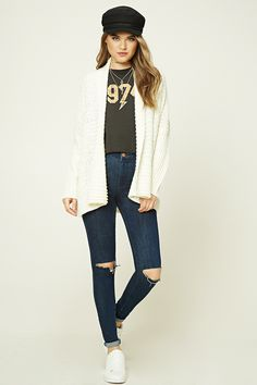 Seed Knit Dolman Cardigan - Sale - Sale - 2000191549 - Forever 21 Canada English