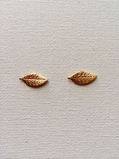 Boho Leaf Earring Studs by ThePrettyWickedRiots on Etsy