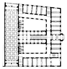Jože Plečnik, National University Library, Plan, Ljubljana,... #architecture #drawing Pinned by www.modlar.com