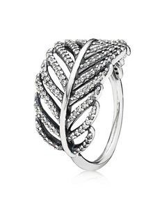 PANDORA Ring - Sterling Silver & Cubic Zirconia Light as a Feather | Bloomingdales's