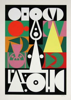 Auguste Herbin, French (1882 - 1960) Title: Alphabet Plastique I Year: circa 1950's Medium: Lithograph, signed l.r. Edition: HC Size: 29 in. x 24 in. (73.66 cm x 60.96 cm)