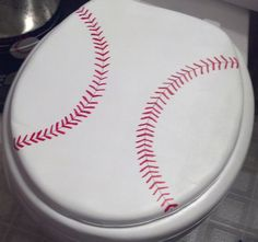 Put this in our Yankees themed bathroom. Now, if I can only find the Red Sox toilet paper!