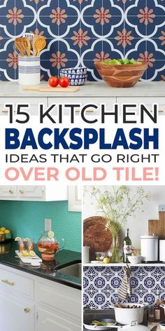 Use one of these ideas to make your kitchen look new again, and adapt one of these DIY backsplash ideas to cover your tile with something brand new! #kitchenideas #backsplash #kitchenbacksplash ##kitchenbacksplashideas #diykitchenbacksplash #diykitchenbacksplashideas  #diyhomedecor Backsplash Ideas, Kitchen Backsplash, Cool Diy Projects, Project Ideas, Diy Home Improvement, Home Interior, Interior Ideas, Decorating On A Budget, Kitchen Decor