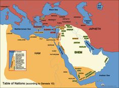 Migration and known cities of Noah's three sons; Shem, Ham and Japheth  | Knowing the Bible