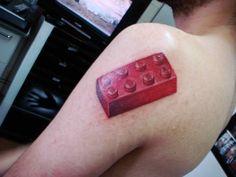 LEGO brick tattoo
