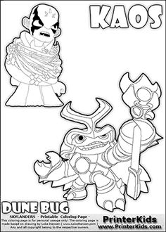 printable or online colorable skylanders swap force coloring page with two colorable variants of the origin pinterest skylanders swap force and