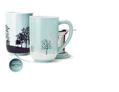 David's Tea | Snowy Forest Colour Changing Nordic Mug| Literally need this mug!