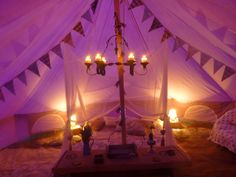 Bells & Labs 6m purple bell tent glamped