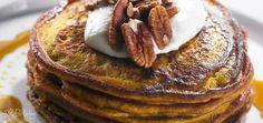 Pumpkin Pancakes, Maple Pecans & Coconut Yoghurt - Dr Libby