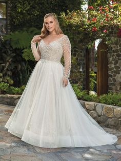Wedding Dress 2373 Naomi by Casablanca Bridal - Search our photo gallery for pictures of wedding dresses by Casablanca Bridal. Find the perfect dress with recent Casablanca Bridal photos. Luxury Wedding Dress, Bridal Wedding Dresses, Glitter Wedding Dresses, Sparkly Wedding Dresses, Sparkle Wedding, Plus Size Wedding Gowns, Plus Size Brides, Vestidos Plus Size, Essense Of Australia