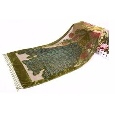 Cheap scarf acrylic, Buy Quality scarf arab directly from China scarf wrap shawl Suppliers: Novelty Green Chinese Women's Velvet Silk Beaded Sequined Embroider Peacock Scarves Shawl Scarf Wrap Long Fringle Pashmina 1103