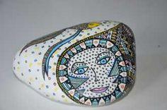 Kunstsamlingen | Artist: Barbara Kaad Ostenfeld | Title: Sten med fisk | Height: 8cm,  Width: 13cm | Find it at kunstsamlingen.com