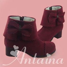 an * tai * na * lolita * cos delicate and ankle boots 9957A burgundy - Taobao $61