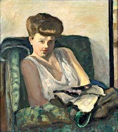 PIERRE BONNARD (/ Femme dans un fauteuil» vers 1905