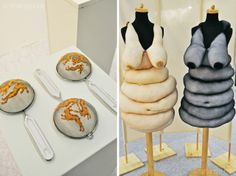 Exhibits from the H&H Cologne show. Embroidered colanders and 'obese' dresses! Textile Sculpture, Soft Sculpture, Textile Art, Flagellation, Fat Fashion, Textiles, Body Love, Museum Of Modern Art, Design Development