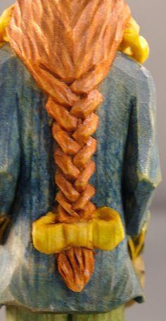 Carving braided hair