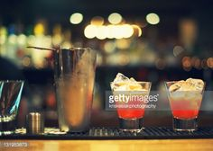 Stock Photo : Cocktail with bokeh in background