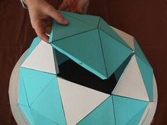 Build a paper geodesic dome : try with thick foam or colored tacky board