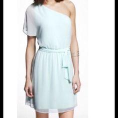 Darling Dress Like new! Worn once Express Dresses One Shoulder