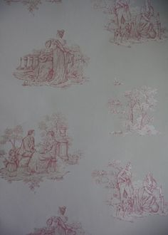 1000 images about wallpapers on pinterest wallpaper uk - Papel pintado toile de jouy ...