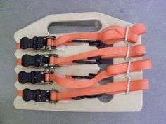 Genius! I'll be making one of these soon. Ratchet Strap Organizer