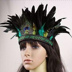 Nero Women's Handmade Peacock Feather Fascinator Hair Cli...…