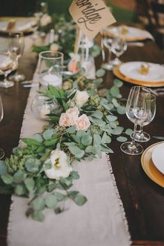 eucalyptus green wedding centerpiece / http://www.deerpearlflowers.com/greenery-eucalyptus-wedding-decor-ideas/2/