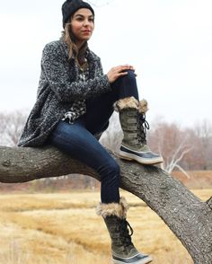 The key to keeping your toes warm and dry all winter long are tall, insulated boots - via @mystylewire