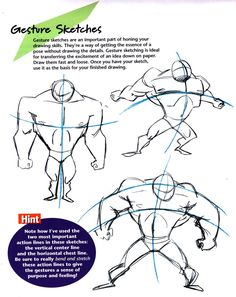 Anatomy Drawing Tutorial Gesture Drawing for Comics by Christopher-Hart - Drawing Superheroes, Drawing Cartoon Characters, Comic Drawing, Character Drawing, Cartoon Drawings, Drawing Skills, Drawing Techniques, Drawing Tips, Gesture Drawing Poses