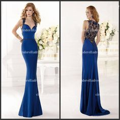 Wholesale TE92401 Dark Blue Satin 2014 Sweetheart Sheath Mermaid Long Pageant Dresses With Sheer Hollow Lace Back Prom Pageant Evening Dresses Gowns, Free shipping, $118.38/Piece | DHgate Mobile