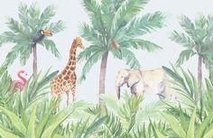 Image result for jungle nursery mural