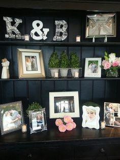 Bride & groom cabinet