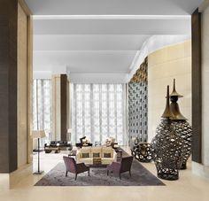 St Regis Bangkok Hotels: The St. Regis Bangkok - Photos at St Regis Hotels Design, Hospitality Design, Commercial Interiors, Hotel Lobby Lounge, Hotel Interiors, Interior Architecture, Luxury Interior, Lounge, Hotel Inspiration