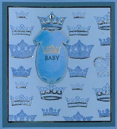 Stamp-it Australia: 4348D Baby Suit, 4312E Crowns, siset032 Baby - Card by Susan