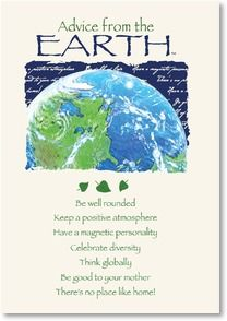 Blank Card with Quote / Saying - Advice from the EARTH | Your True Nature® | 3_2002417-P | Leanin' Tree